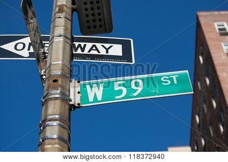 Street Sign New York