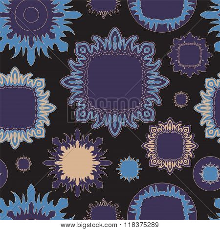 Stock Vector Seamless Doodle Floral Pattern. Orient.