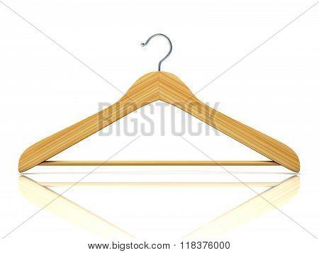 Wooden clothes hangers 3D Front view