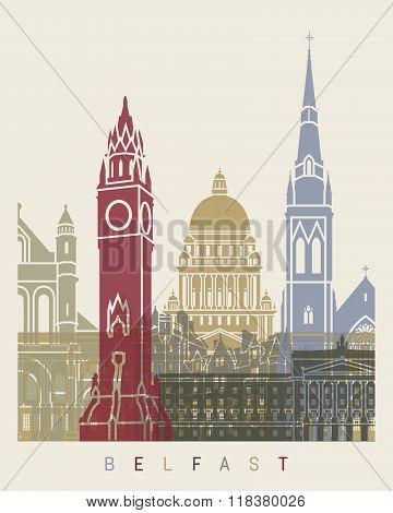 Belfast Skyline Poster