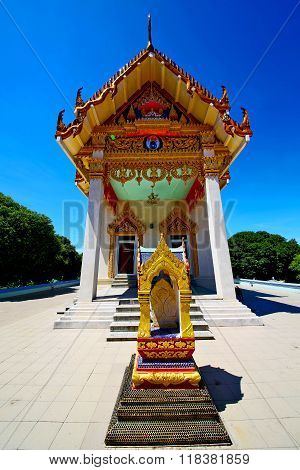 Kho Samui Bangkok In Thailand Incision Of Sidewalk Temple