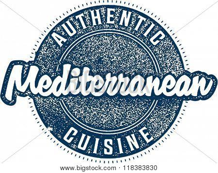 Authentic Mediterranean Cuisine Menu Food Stamp