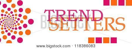 Trend Setters Pink Orange Dots Horizontal