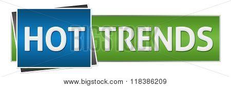 Hot Trends Green Blue Horizontal