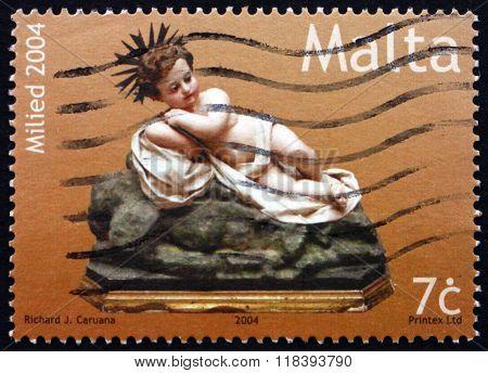Postage Stamp Malta 2004 Effigy Of Infant Jesus