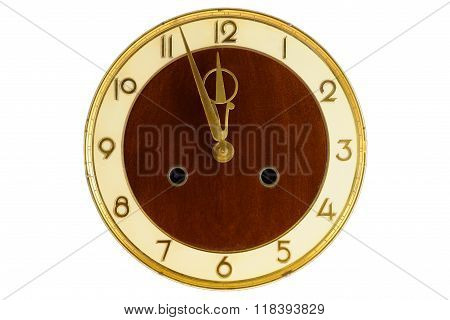 Old Vintage Clock Face, Clipping Path
