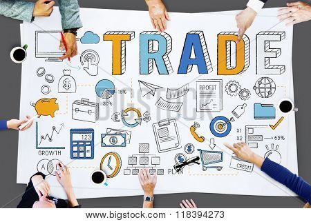 Trade Trading Commerce Deal Exchange Swap Concept poster