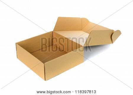 Open Cardboard Box Or Brown Paper Box