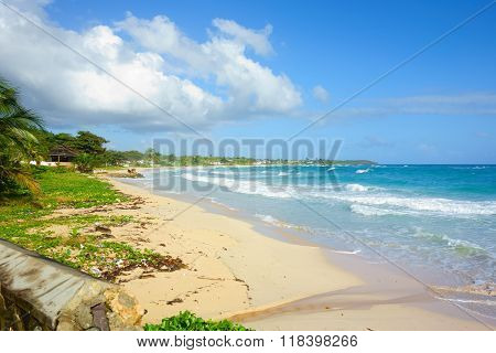 Long Bay beach in Portland, Jamaica