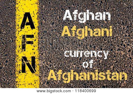 Acronym Afn- Afghan Afghani Currency