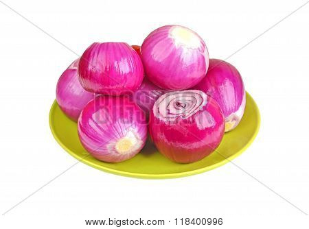 Peeled Red Onion