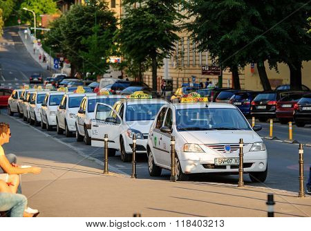 Taxi Drivers Waiting For Customers
