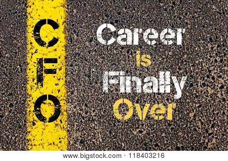 Business Acronym Cfo Career Is Finally Over