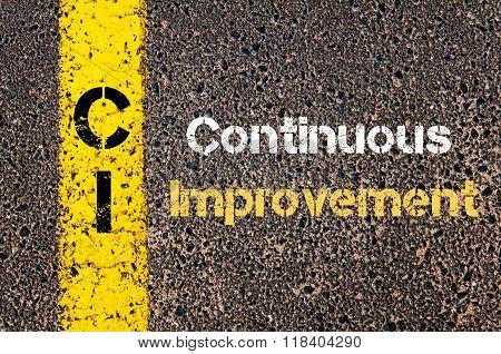 Business Acronym Ci Continuous Improvement