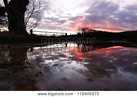 Reflection After Storm Imogen - Sunset