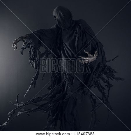 Death On A Black Background