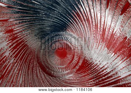 image of american flag shot through wavy glass poster