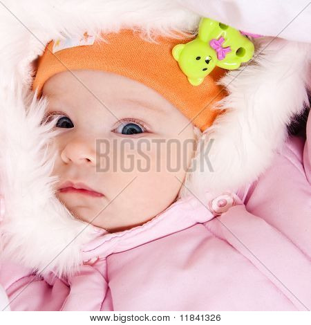 Little dressed infant