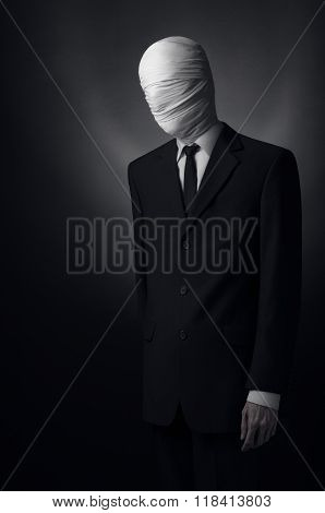 Internet Meme And Terrible Character Halloween Theme: Very Tall Burly Man With Long Arms In A Suit W