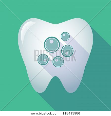 Long Shadow Tooth Icon With Oocytes