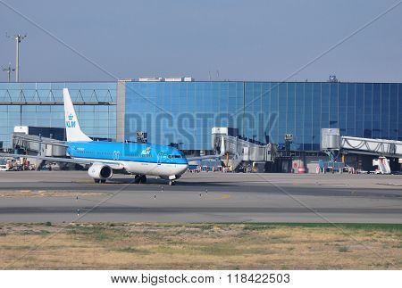 KLM Airplane At The Airport