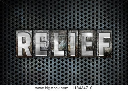 Relief Concept Metal Letterpress Type