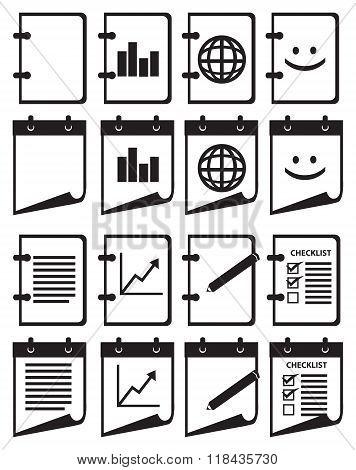 Notebook Vector Web Icon Set