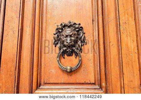 Wodden Door With Doorknocker
