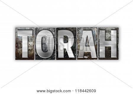Torah Concept Isolated Metal Letterpress Type