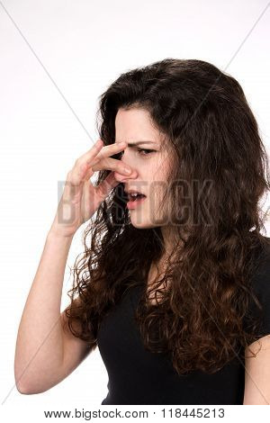 Woman Smells Something Stinky