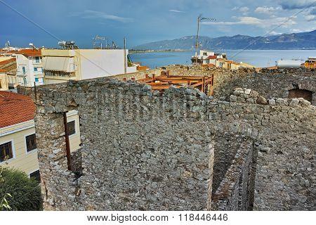 amazing panorama of Nafpaktos town, Greece
