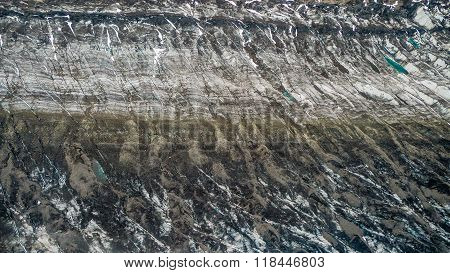 Surface Of A Dirty Glacier
