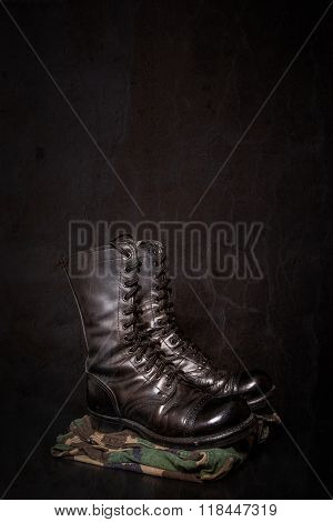 Combat Boots And Camouflage