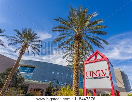Central Campus And Sign At The University Of Nevada