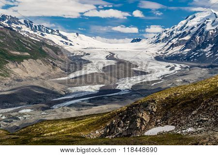 Upper Part Of Canwell Glacier