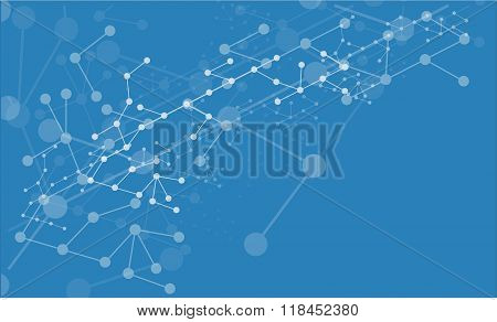 Abstract vector background medical substance and molecules.