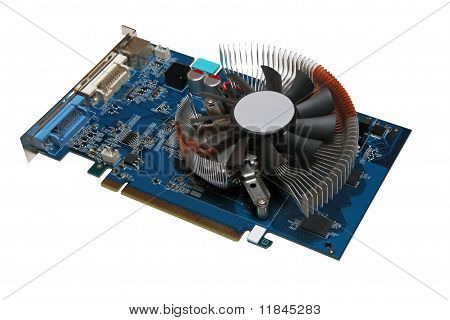 Computer Videocard Isolated On A White Background.
