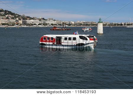 Marine Trams In Cannes Harbor