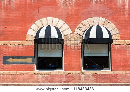 Two Windows In Deadwood, South Dakota