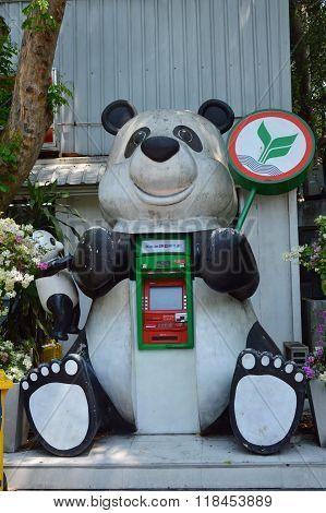 panda automatic teller machine of Kasikorn Thai bank in nationa