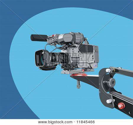 DV-Camcorder auf Kran