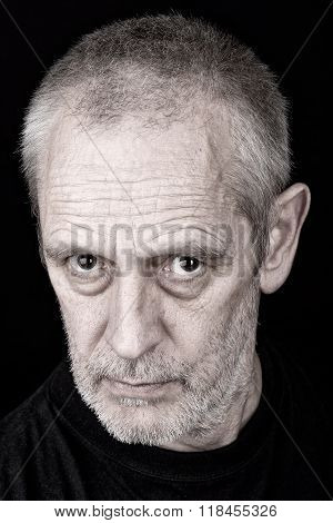 Portrait Of Man With Inquisitive Look