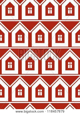 Simple Houses Continuous Vector Background. Property Developer Conceptual Elements, Real Estate Them