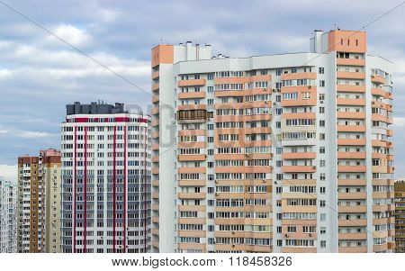 Housing Estate With Modern Multi-storey Apartment Buildings