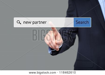 image of a man who is searching the web after new partner