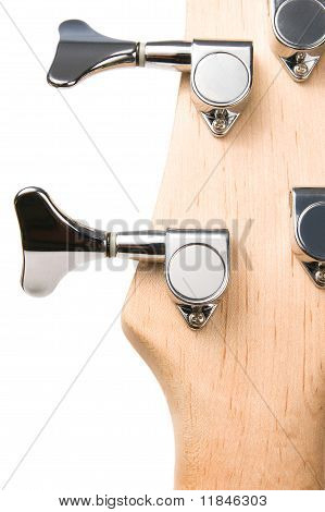 bass guitar fingerboard head metal pins