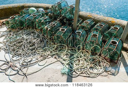 Lobster Traps In Spain