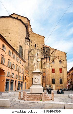 Piazza Galvani. Bologna, Italy