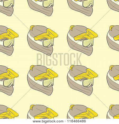 Seamless motorcycle helmets