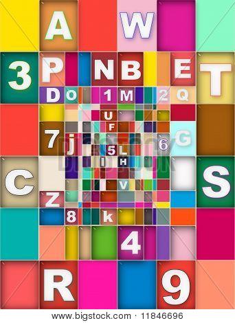 Colornumberletters